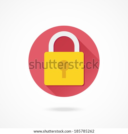 Vector Lock Icon - stock vector