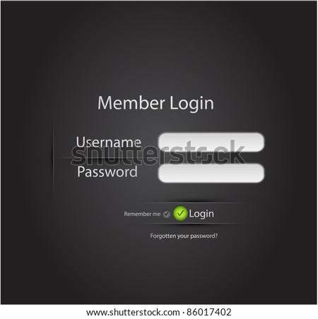 Vector login background - stock vector