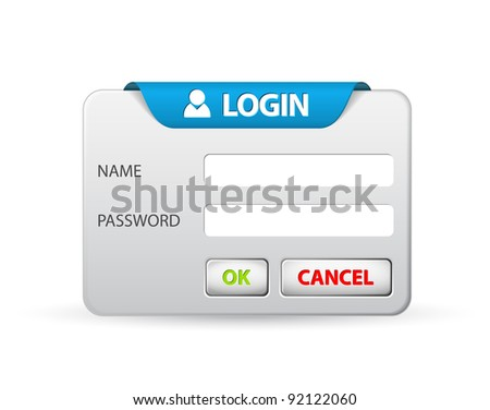 Vector login form template / design - stock vector