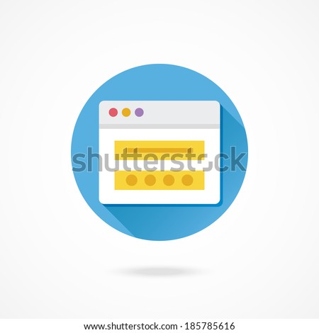 Vector Login Icon - stock vector