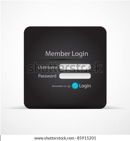 Vector login page - stock vector