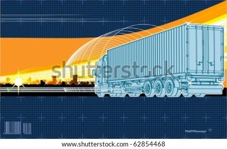Vector logistics theme background - stock vector