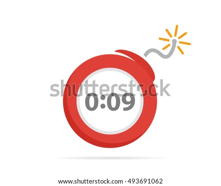 Vector logo design combination of a timer and bomb. Timer and bomb symbol or icon