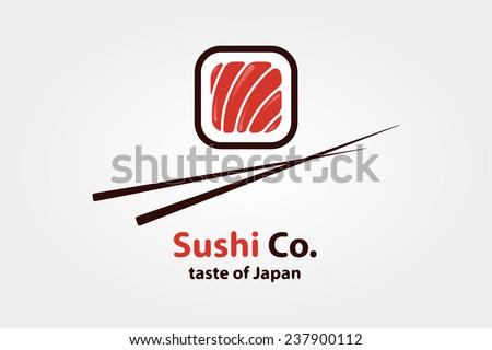 Vector logo design element. Sushi, restaurant, japanese - stock vector