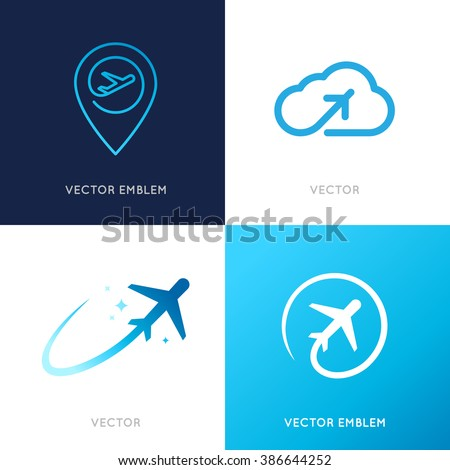 Airplane logo stock photos images pictures shutterstock for Design a plane online