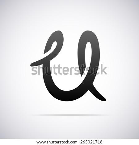 Vector Logo For Letter U Design Template