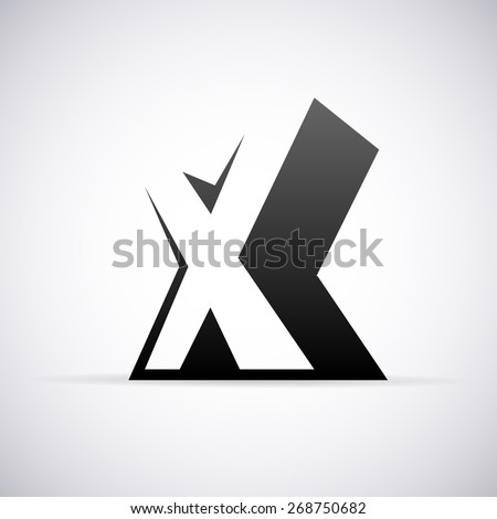 Vector logo for letter X design template