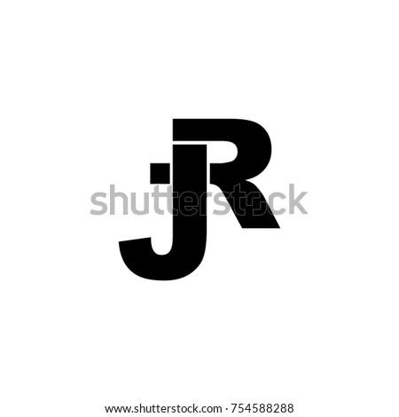 Vector Logo Letter J R Stock Vector Royalty Free 754588288
