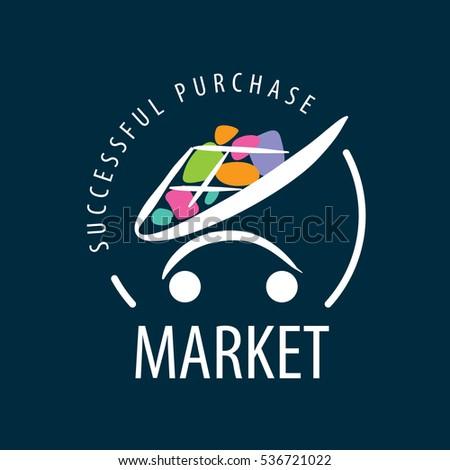 template design logo market vector illustration stock