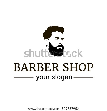 vector logo template barber shop illustration stock vector