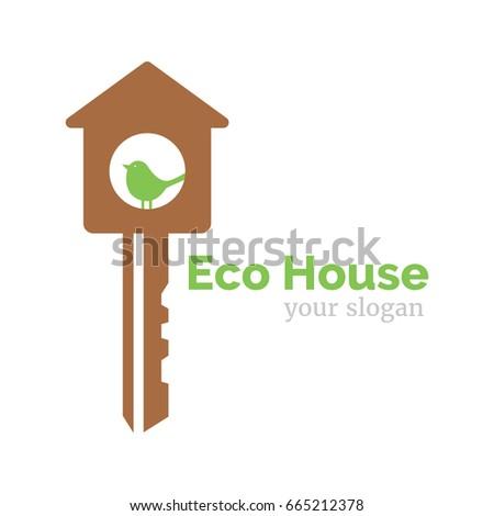 Vector Logo Template Eco Home Illustration Stock Vector 665212378 ...