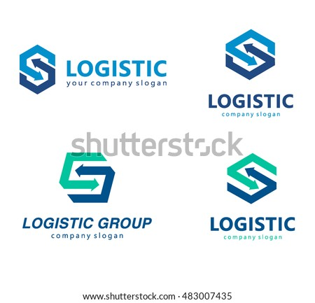 vector logo template logistics delivery company stock
