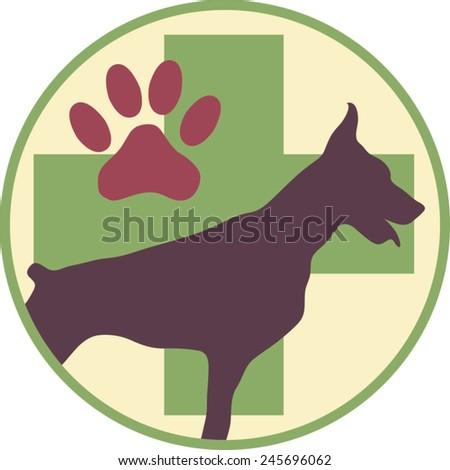 Vector Logo Veterinary - stock vector
