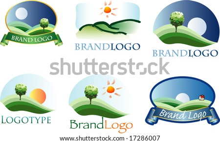 vector logos for various brands (text is in separate layer) - stock vector