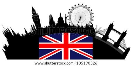vector London skyline - stock vector