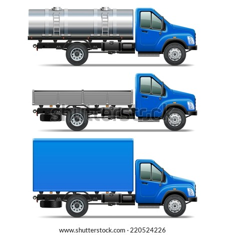 Vector Lorry Icons Set 2 - stock vector