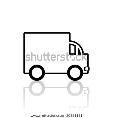 Vector Lorry/Van Icon (Design 2 of 3)