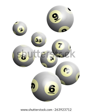 Vector Lottery / Bingo Ball Isolated on White Background - stock vector