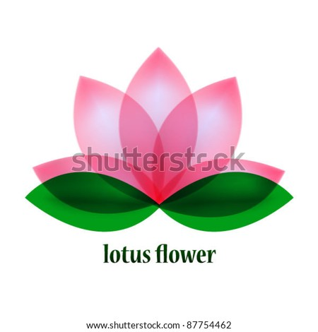 Vector lotus flower symbol