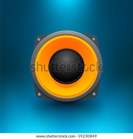 Vector Loudspeaker - stock vector