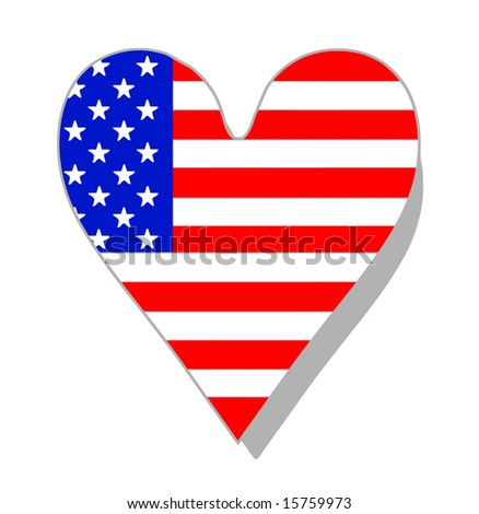 Vector Love America Concept - stock vector
