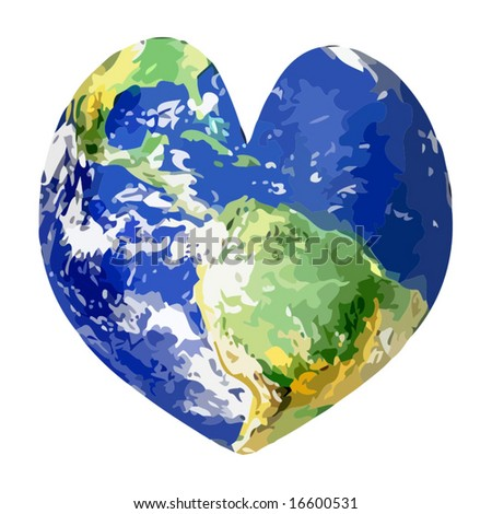Vector Love The World - stock vector