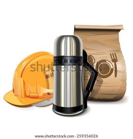 Vector Lunch Break Concept - stock vector