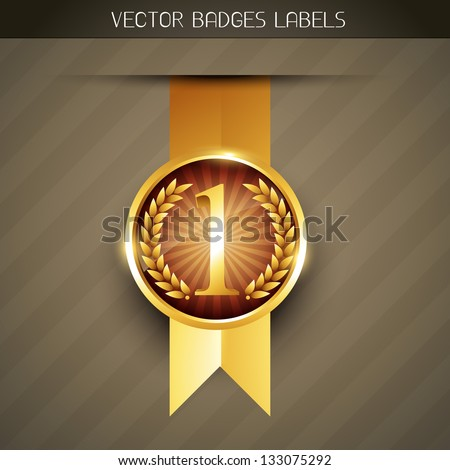 vector luxury no. 1 label design - stock vector