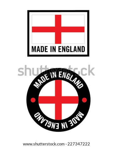 Vector Made in England Icon and Logo Set