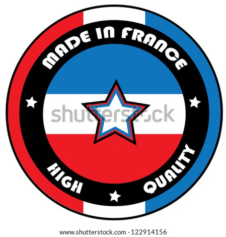 Vector made in France stamp - stock vector