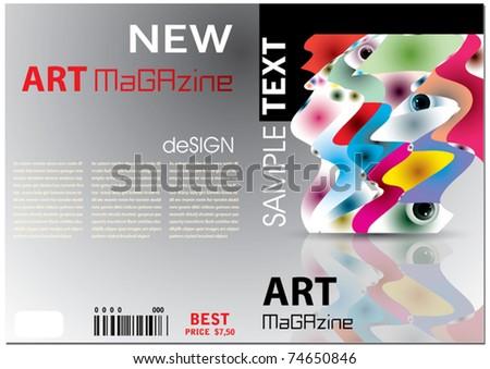 Vector Magazine Design - stock vector