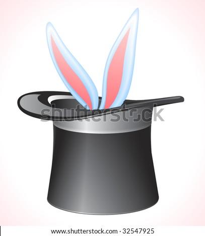 Vector magic hat. - stock vector