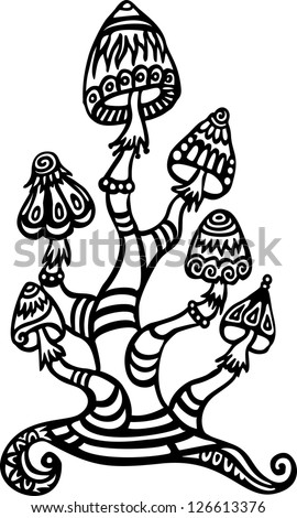 coloring pages of shrooms - photo#19