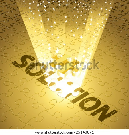 Vector Magical Solution for Finance/Money in Gold - stock vector