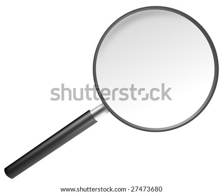 vector magnifying glass.