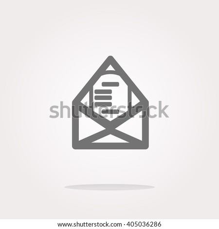 vector mail envelope icon web button isolated on white. Vector mail envelope Icon logo, mail envelope vector Icon Sign, mail envelope Icon Flat, mail envelope button vector - stock vector