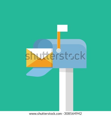 Vector mailbox icon - stock vector