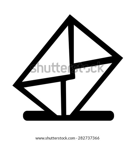 Vector mailbox icon, Illustration EPS10 - stock vector