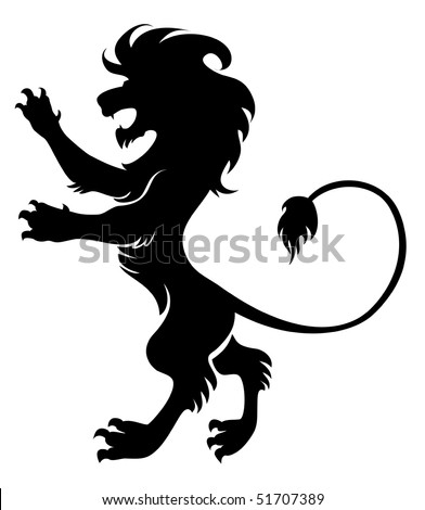vector majestic lion - stock vector