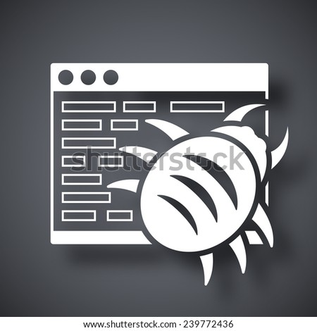 Vector malware icon - stock vector
