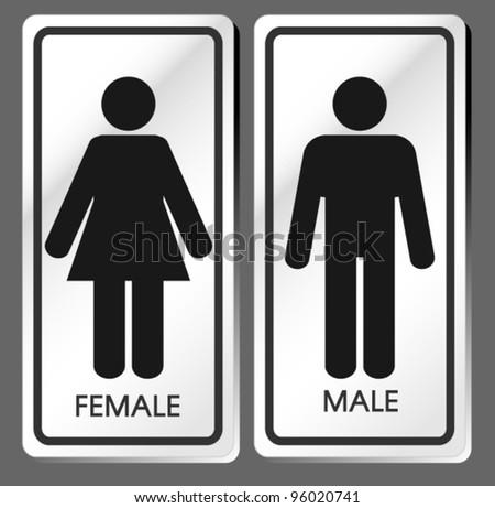Vector Man u0026 Woman toilet