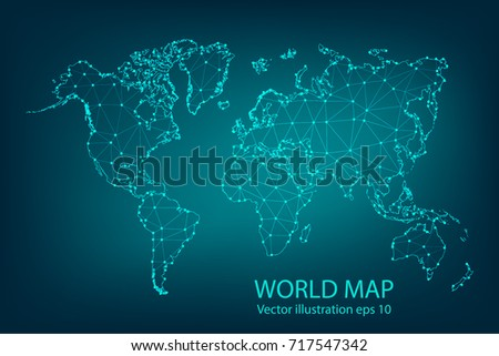 Vector map abstract mashpolygonal line scales vectores en stock vector map abstract mashpolygonal line and scales on dark background with map of gumiabroncs Image collections