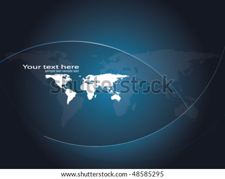 vector map background - stock vector