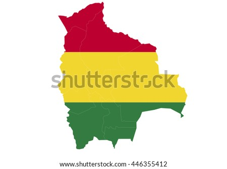Vector map-bolivia country on white background.