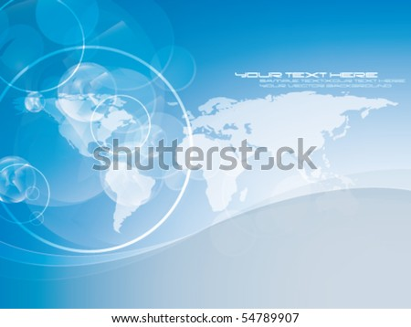vector map design - stock vector