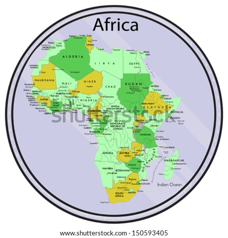 Vector map africa on coin all stock vector 150593405 shutterstock vector map of africa on the coin all elements are editable made 2013 p gumiabroncs Image collections