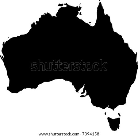vector map of australia - stock vector