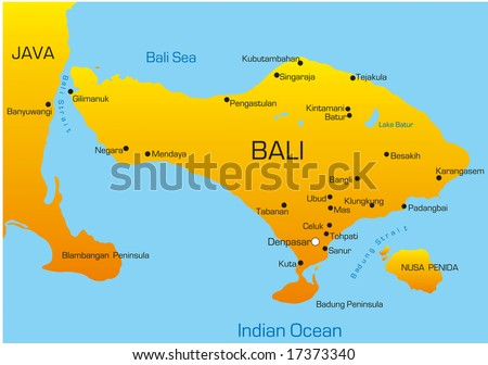 Vector map bali country stock vector 17373340 shutterstock vector map of bali country gumiabroncs Choice Image