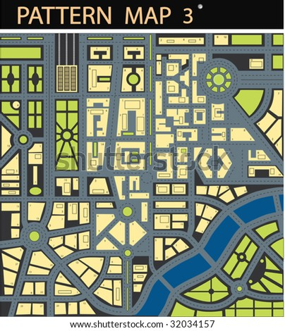 Vector map of city - stock vector