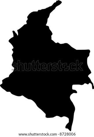 vector map of colombia - stock vector